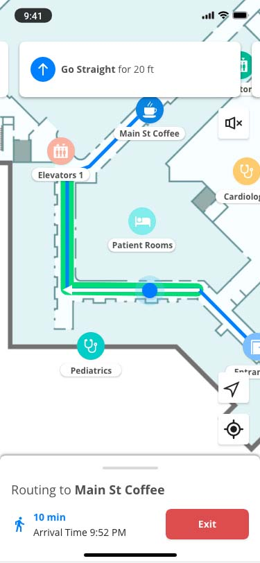 healthcare-mapping-route-screen